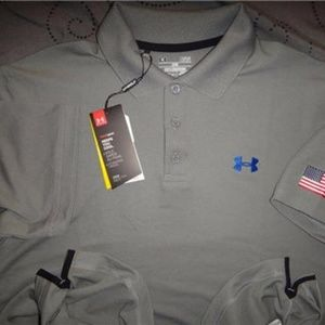 Under Armour Shirts - UNDER ARMOUR USA POLO SHIRT L MEN NWT $54.99